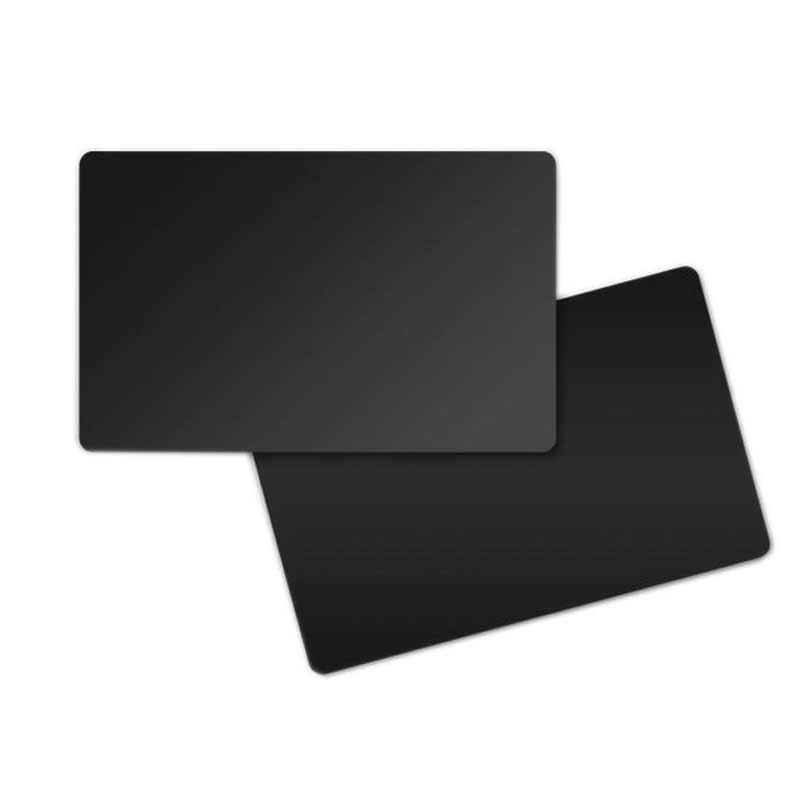 Premium Qualität 1-500 Karten Plastikkarten beidseitig schwarz matt