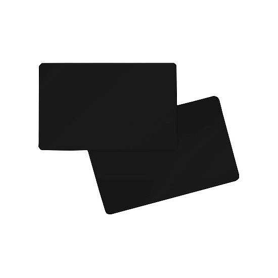 Bild 1 - Evolis PVC cards Blank Matt black 0,76 mm (100)