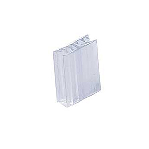 H-Klammer 25 x 22 mm PVC transparent