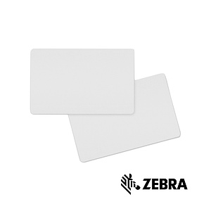 Zebra white 10 mil PVC cards CR-80 (100)