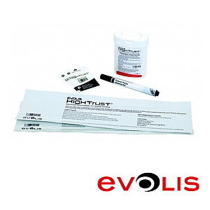 Evolis Zenius/Primacy Reinigungsset advanced (2 T Cards, 2 Adhesive Cleaning Cards, 1 Pen, Tücher)